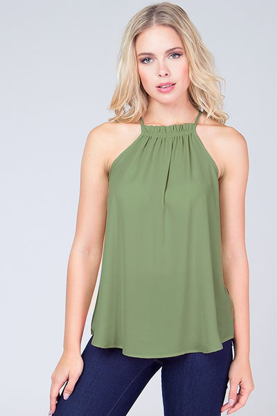 Boho Ruched Halter Top - Blooms in the City