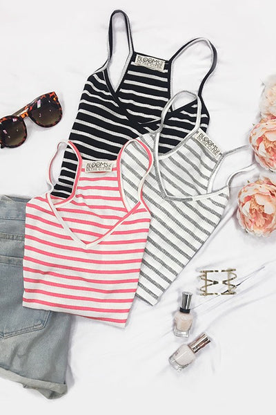 Striped Racerback Tank - Blooms in the City