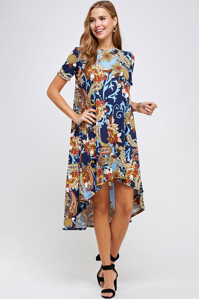 D3056-NP32 High Low Dress New Prints