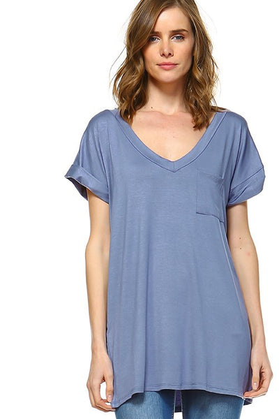 Relaxed V Neck Tee - Blooms in the City