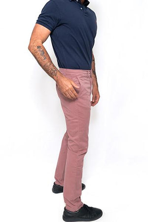 Washed Chino Regular Mallorca Sunset - smitzy