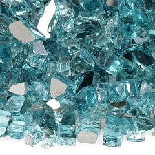 "American Fire Glass - 1/2"" Azuria Reflective 10 lbs - AFF-AZBLRF12-10 - Fire Glass - Firetable Store"