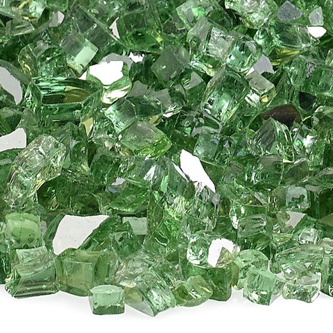"American Fire Glass - 1/4"" Evergreen Reflective 10 lbs - AFF-EVGRRF-10 - Fire Glass - Firetable Store"
