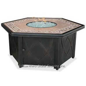 Blue Rhino/Endless Summer LP Gas Outdoor LP Firebowl With Decorative Tile Mantel GAD1380SP - Gas Fire Pit / Fire Table - Firetable Store
