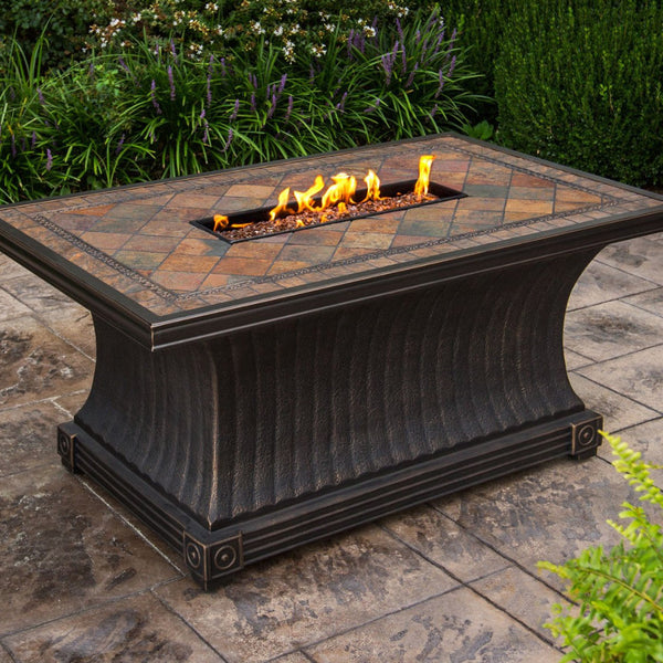 Agio vienna fire pit table 52 x 32 firetable store for Table 52 petroleum