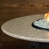 "American Fire Glass - Carmel Round Fire Pit w/48"" Sunset Gold Top - AFP-CAR-RDSUN-48 - Gas Fire Pit / Fire Table - Firetable Store"