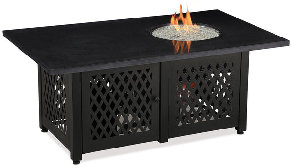 Blue Rhino/Endless Summer LP Dual Heat Lp Gas Outdoor Fire Table With Granite Mantel GAD18100M - Gas Fire Pit / Fire Table - Firetable Store