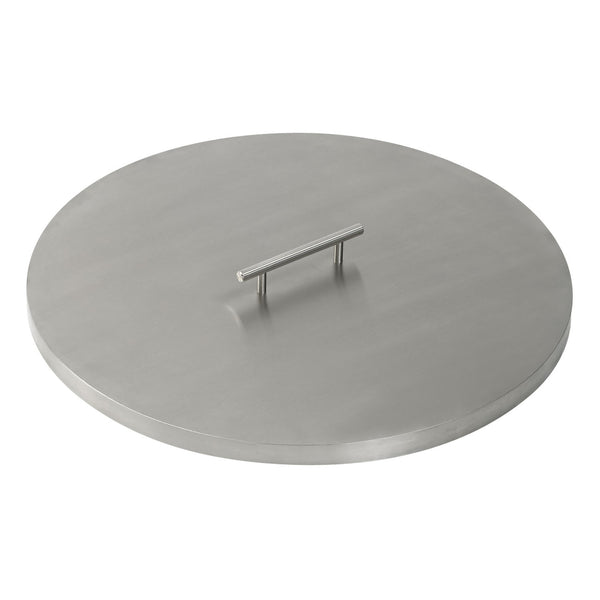 American Fire Glass - Stainless Steel Cover for Round Drop-In Fire Pit Pan - Gas Fire Pit / Fire Table - Firetable Store