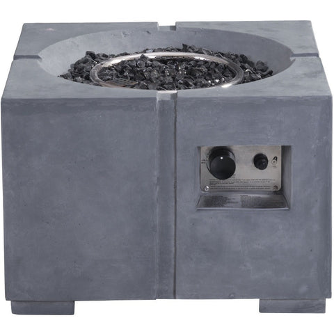 Zuo Dante Propane Fire Pit Gray- 100412 - Gas Fire Pit / Fire Table - Firetable Store
