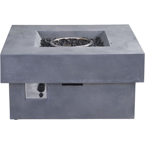 Zuo Diablo Propane Fire Pit Gray- 100413 - Gas Fire Pit / Fire Table - Firetable Store