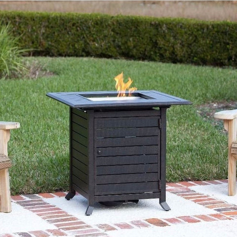 Well Traveled Living Donato Extruded Aluminum Bistro LPG Fire Pit-Item #61927 - Gas Fire Pit / Fire Table - Firetable Store