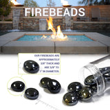 American Fire Glass - Caramel Luster Fire Beads 10 lbs - FB-CARLST-10 - Fire Glass - Firetable Store