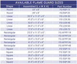 American Fire Glass - Square Glass Flame Guard for Square Drop-In Fire Pit Pan - Gas Fire Pit / Fire Table - Firetable Store