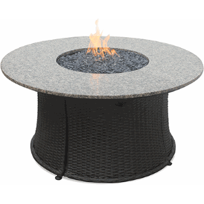 Blue Rhino/Endless Summer LP Gas Outdoor LP Firebowl With Granite Mantel GAD1375SP - Gas Fire Pit / Fire Table - Firetable Store