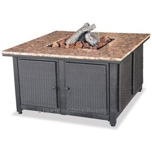 Blue Rhino/Endless Summer LP Gas Outdoor LP Firebowl With Granite Mantel Square GAD1200B - Gas Fire Pit / Fire Table - Firetable Store