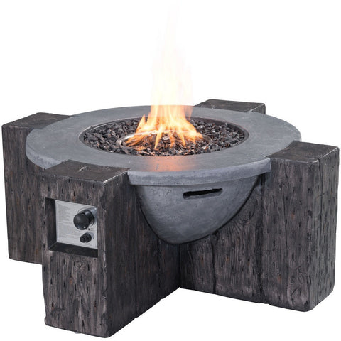 Zuo Hades Propane Fire Pit Gray- 100414 - Gas Fire Pit / Fire Table - Firetable Store