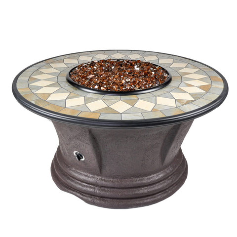 Tretco Havana I 48 inch Fire Pit Table - FP-C-HAV-48-1 - Gas Fire Pit / Fire Table - Firetable Store