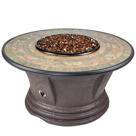 Tretco Havana II 48 inch Fire Pit Table - FP-C-HAV-48-2 - Gas Fire Pit / Fire Table - Firetable Store