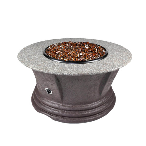 Tretco Havana III 42 inch Granite Fire Pit Table - FP-C-HAV-42-3 - Gas Fire Pit / Fire Table - Firetable Store