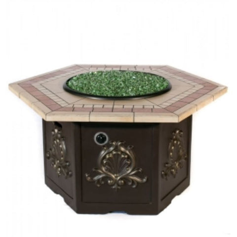 Tretco Classic Hex Fire Pit- FP-C-Hex-36-HexT - Gas Fire Pit / Fire Table - Firetable Store