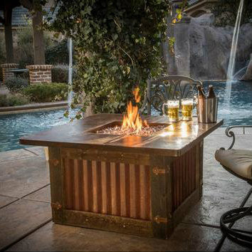 CC Products Homesteader Fire Pit Table - C1034 - Gas Fire Pit / Fire Table - Firetable Store