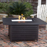 Well Traveled Living Longmont Extruded Aluminum Rectangular LPG Fire Pit-Item #61898 - Gas Fire Pit / Fire Table - Firetable Store
