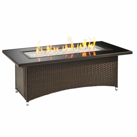 Outdoor GreatRoom - Balsam Montego Linear Gas Fire Pit Table - MG-1242-BLSM-K - Gas Fire Pit / Fire Table - Firetable Store