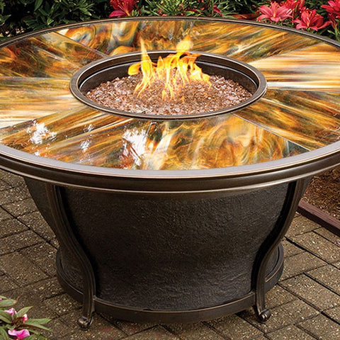 "Agio Moonlight Fire Pit - 48"" - Gas Fire Pit / Fire Table - Firetable Store"