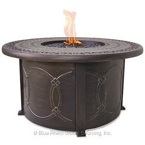 Blue Rhino/Endless Summer LP Gas Outdoor LP Firebowl With Cast Aluminum Mantel GAD1390SP - Gas Fire Pit / Fire Table - Firetable Store