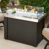 Outdoor GreatRoom - Stainless Steel Providence Rectangular Gas Fire Pit Table - PROV-1224-SS - Gas Fire Pit / Fire Table - Firetable Store