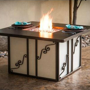 CC Products Regale Fire Pit Table - C1036 - Gas Fire Pit / Fire Table - Firetable Store