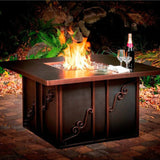 CC Products Regale Night Fire Pit Table - C1037 - Gas Fire Pit / Fire Table - Firetable Store