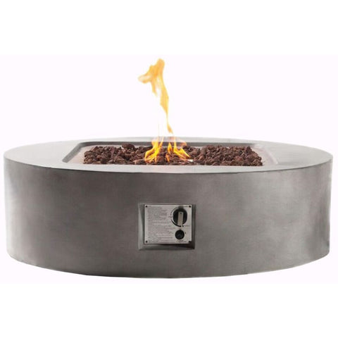Teva Flint Round Firepit in Concrete- 683615992788 - Gas Fire Pit / Fire Table - Firetable Store