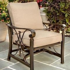 Agio Seville Patio Chairs - Set of 4 - Gas Fire Pit / Fire Table - Firetable Store