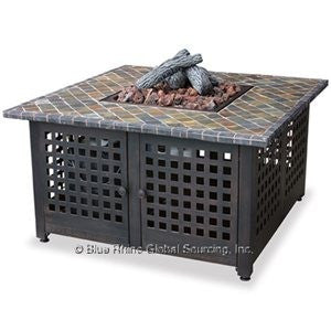 Blue Rhino/Endless Summer LP Gas Outdoor LP Firebowl With Slate/Marble Tile Mantel GAD860SP - Gas Fire Pit / Fire Table - Firetable Store