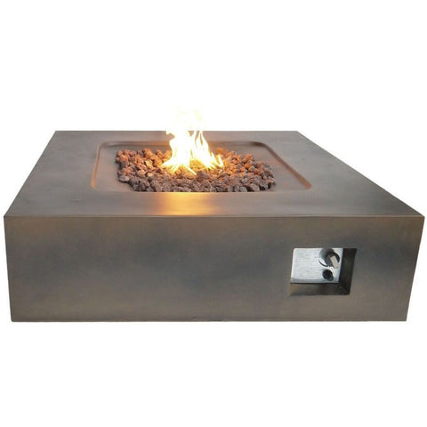 Teva Flint Square Firepit in Brown- 683615992795 - Gas Fire Pit / Fire Table - Firetable Store
