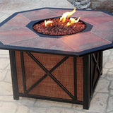 "Agio Haywood Fire Pit - 43"" x 43"" - Gas Fire Pit / Fire Table - Firetable Store"