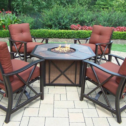 "Agio Haywood Fire Pit - 43"" x 43"" - Haywood Patio Collection - Gas Fire Pit / Fire Table - Firetable Store"
