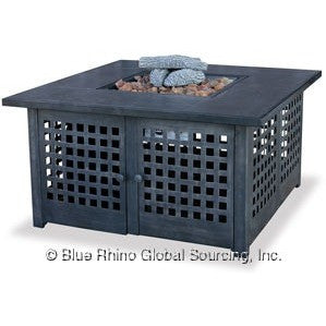 Blue Rhino/Endless Summer LP Gas Outdoor LP Firebowl With Tile Mantel GAD920SP - Gas Fire Pit / Fire Table - Firetable Store
