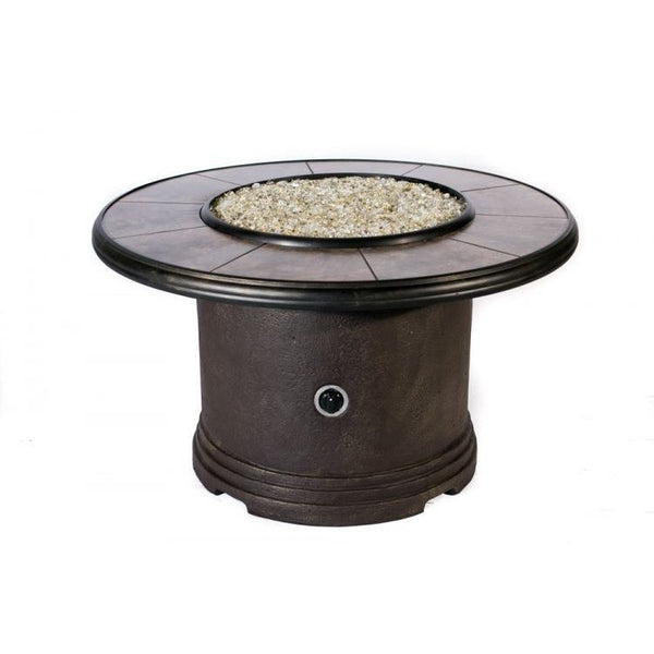 Tretco Traditional Chat Fire Pit- FP-C-R-36-42RGRC - Gas Fire Pit / Fire Table - Firetable Store