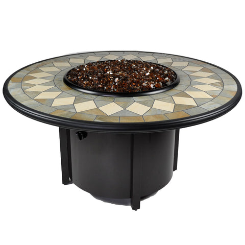 Tretco Venice I 48 inch Fire Pit Table - FP-A-VEN-48-1 - Gas Fire Pit / Fire Table - Firetable Store
