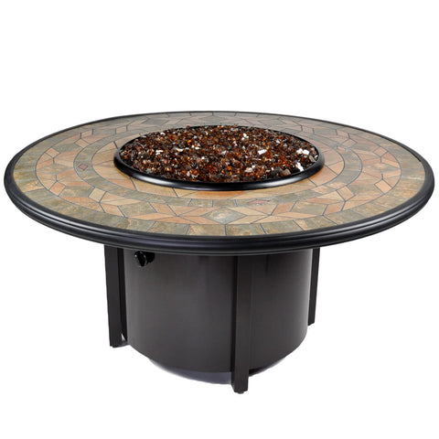 Tretco Venice II 48 inch Fire Pit Table - FP-A-VEN-48-2 - Gas Fire Pit / Fire Table - Firetable Store