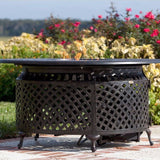 Well Traveled Living Venza Cast Aluminum Round LPG Fire Pit-Item #62082 - Gas Fire Pit / Fire Table - Firetable Store