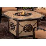 "Agio Heritage Fire Pit - 43"" x 43"" w/ Heritage Patio Collection - Gas Fire Pit / Fire Table - Firetable Store"