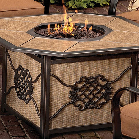 "Agio Heritage Fire Pit - 43"" x 43"" - Gas Fire Pit / Fire Table - Firetable Store"