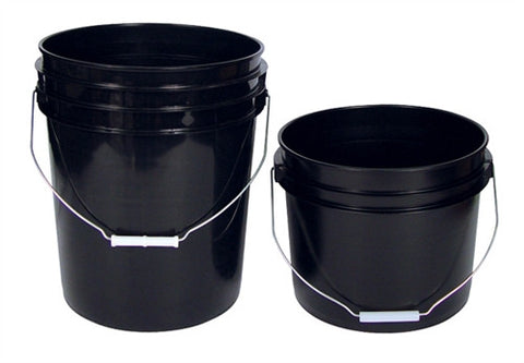 Black Plastic Buckets