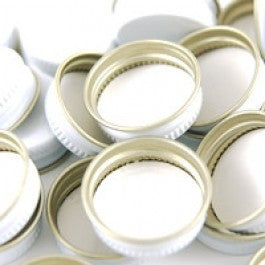 28mm White Metal Screw Caps