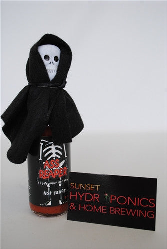 Ass Reaper Hot Sauce with Skull Cap and Cape (5 FL.OZ. / 148 ml)