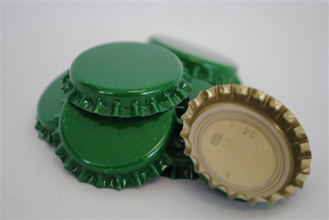 Crown Caps - Green - 144 Count