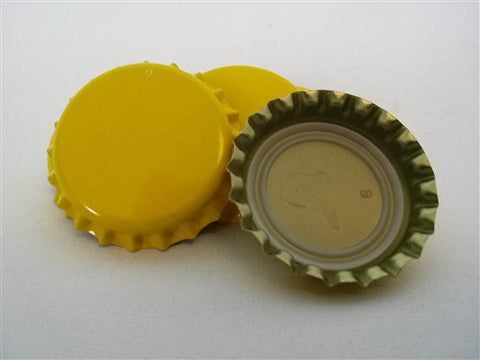 Crown Caps - Yellow - 144 Count